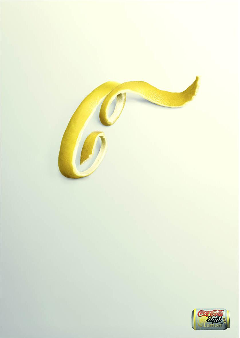 Creative Typography Ads - Coca-Cola Light: Lemon