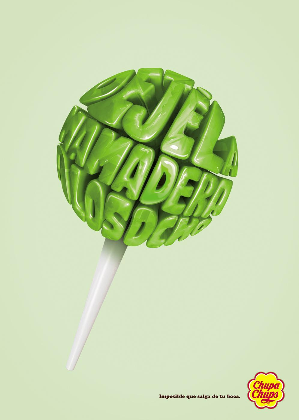 Creative Typography Ads - Chupa Chups: Lollypops