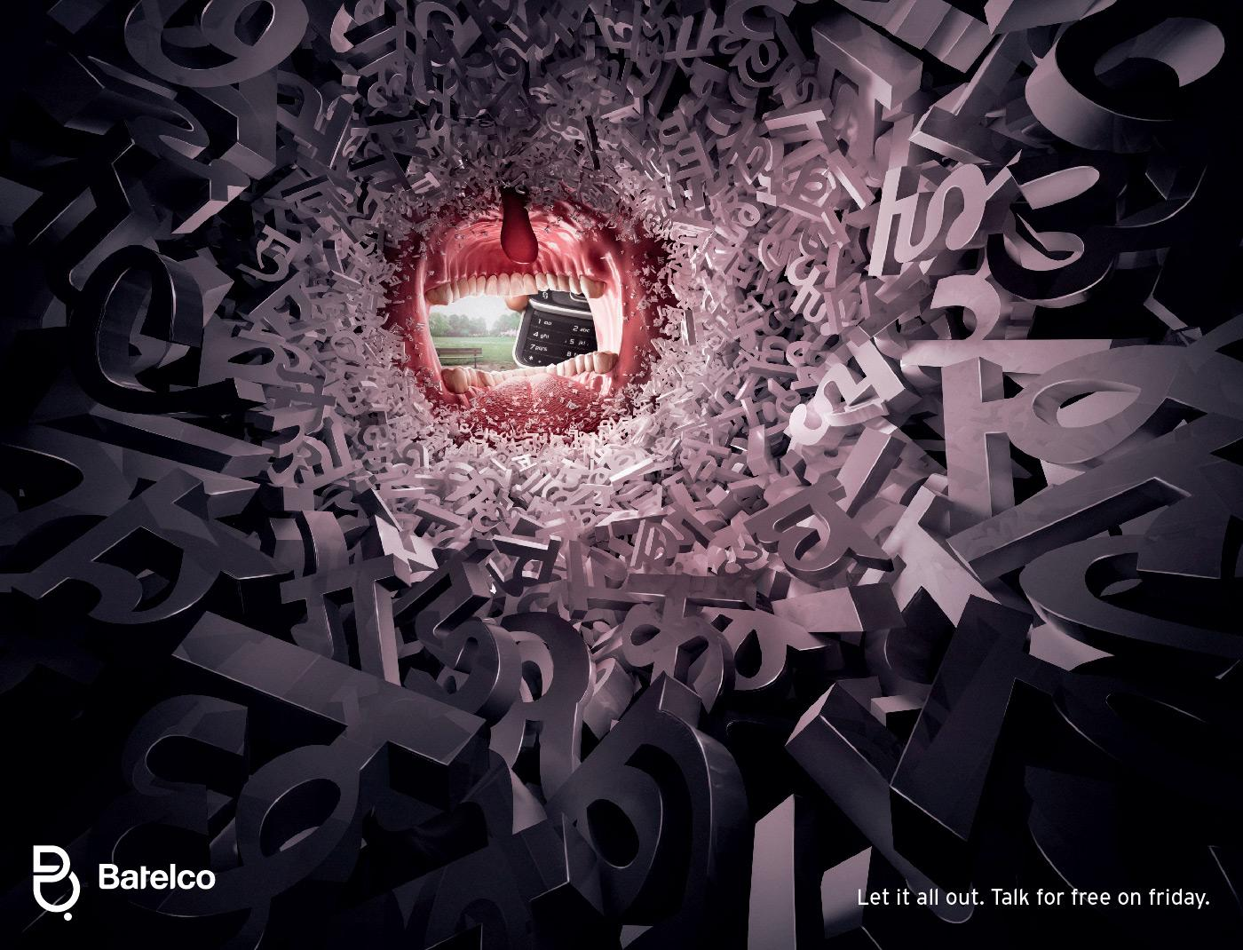 Creative Typography Ads - Batelco: Let it all out (Hindi)
