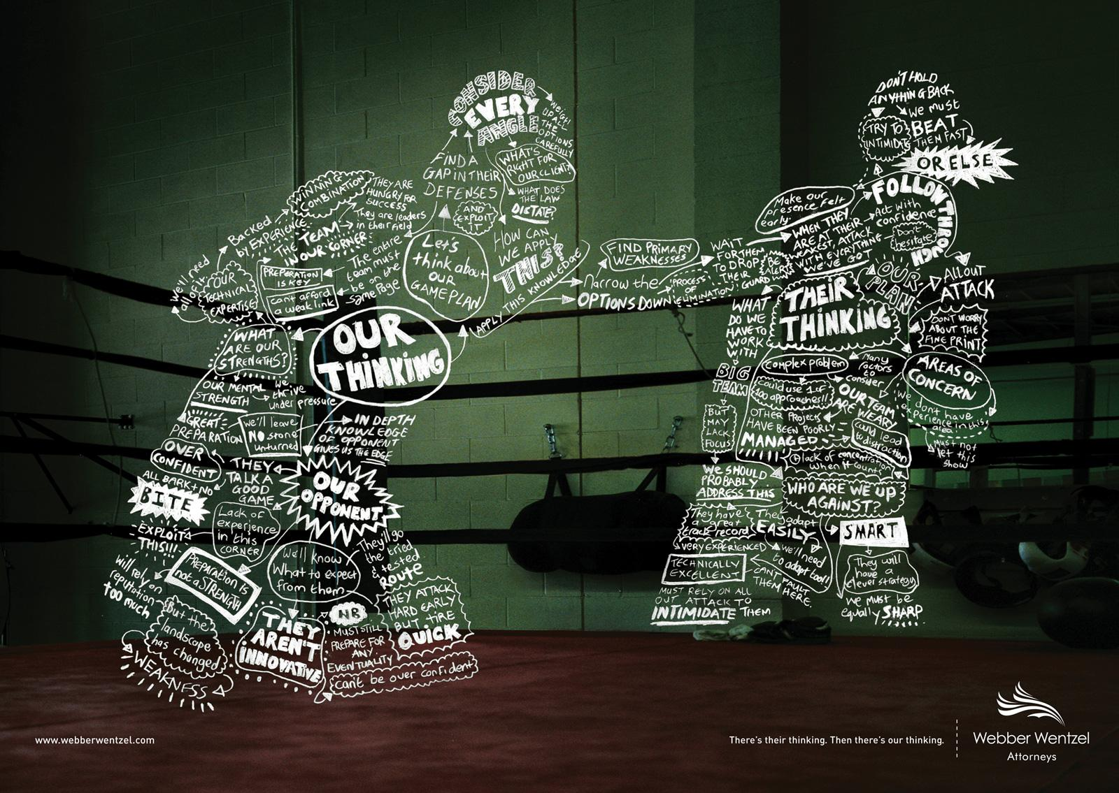 Creative Typography Ads - Webber Wentzel Attorneys: Boxer