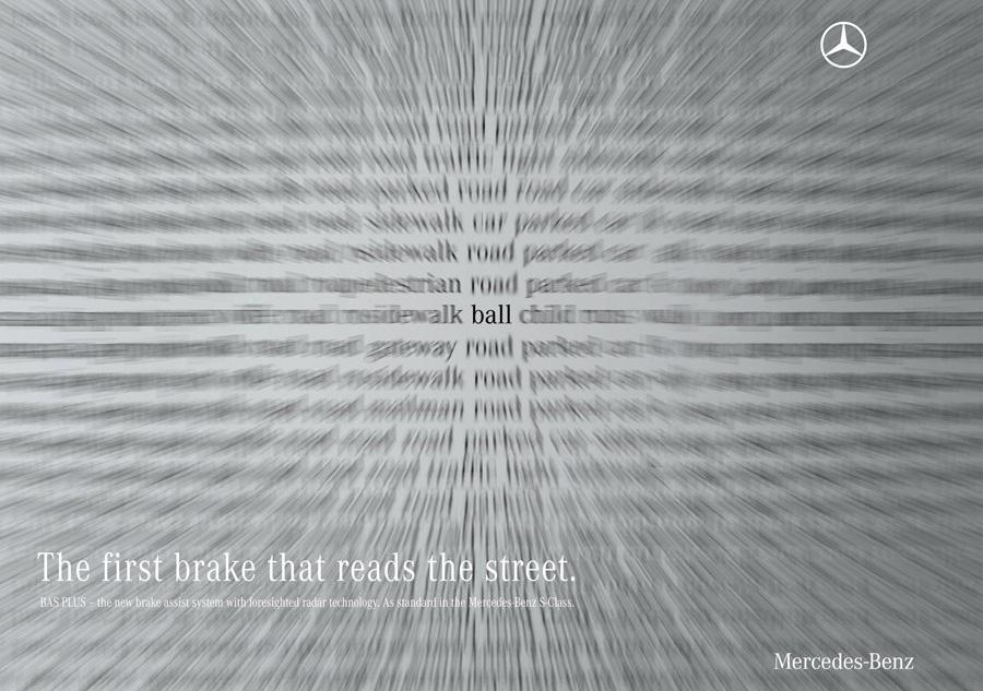 Creative Typography Ads - Mercedes-Benz: Read the street