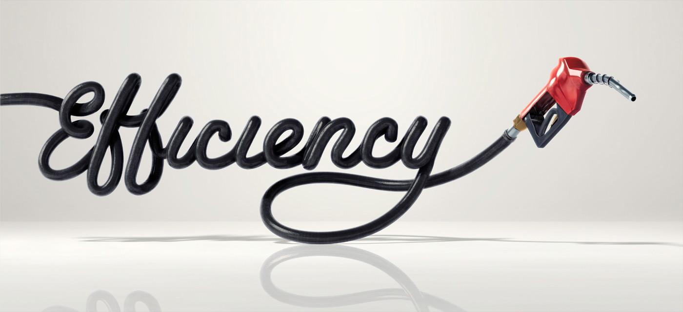 Creative Typography Ads - Toyota: Efficiency