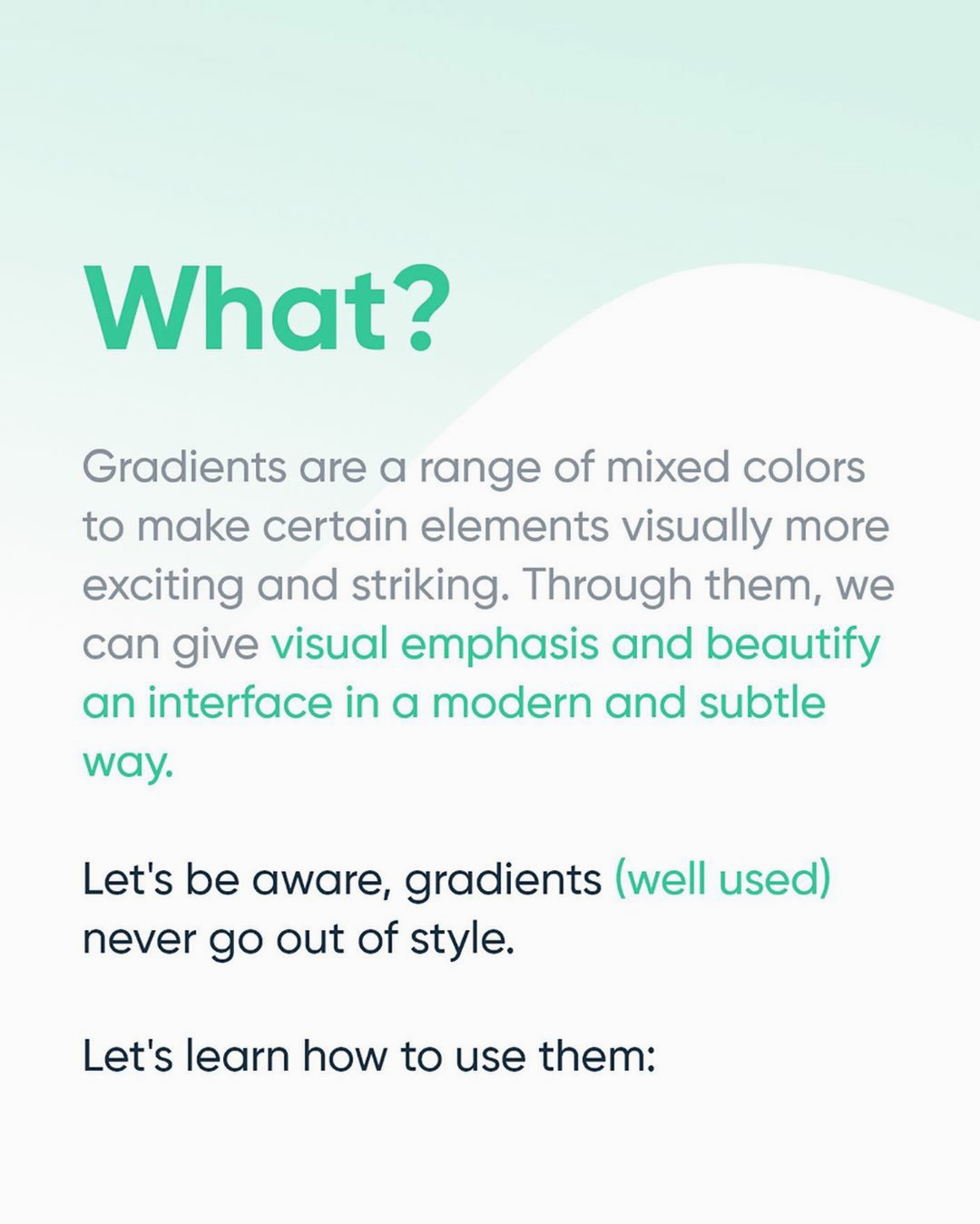 How to create better gradients - What are gradients?