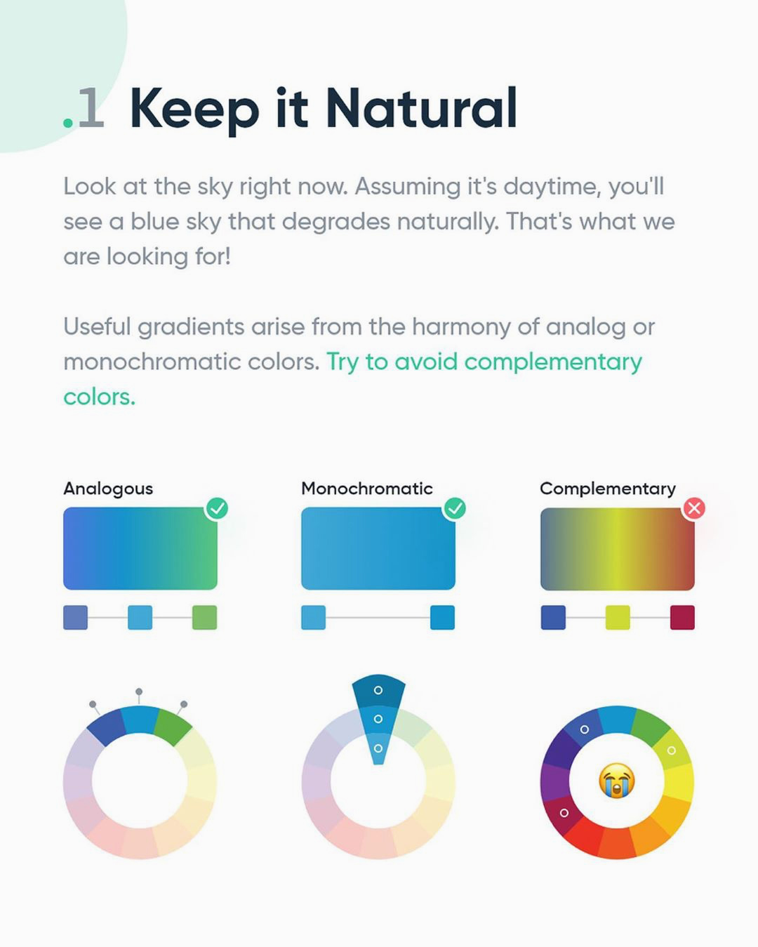 How to create better gradients - Keep it natural
