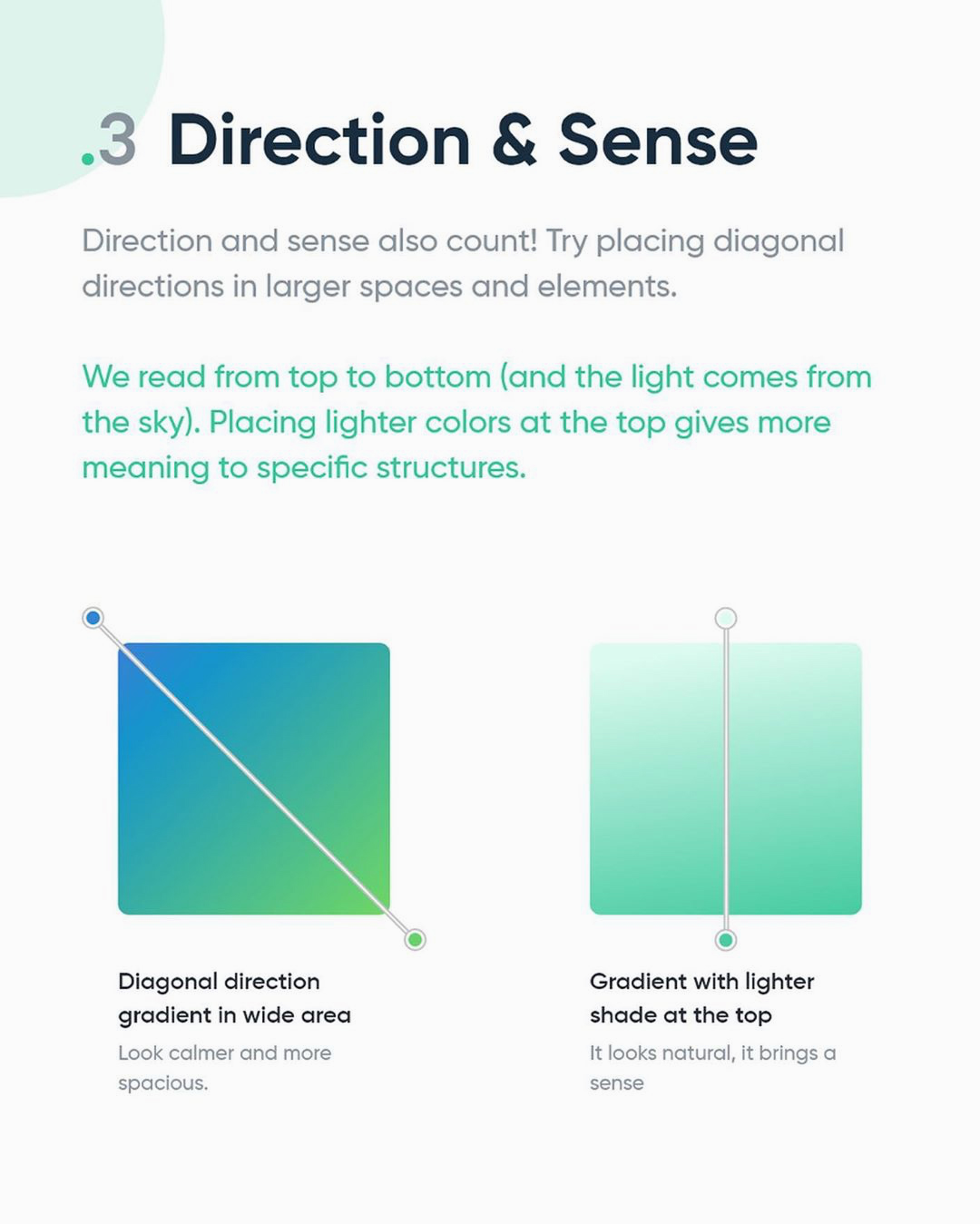 How to create better gradients - Direction & Sense