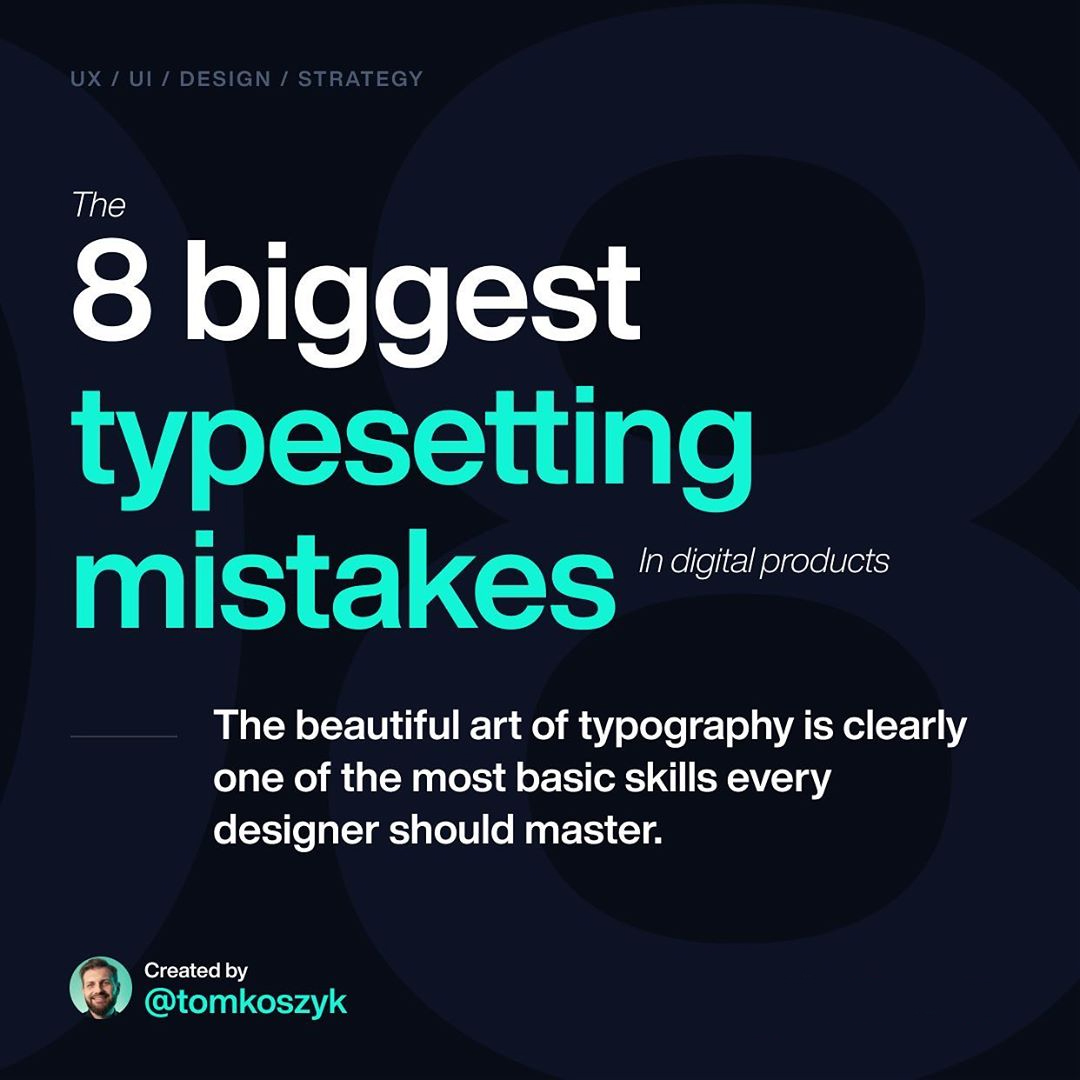 Typography / Typesetting Mistakes
