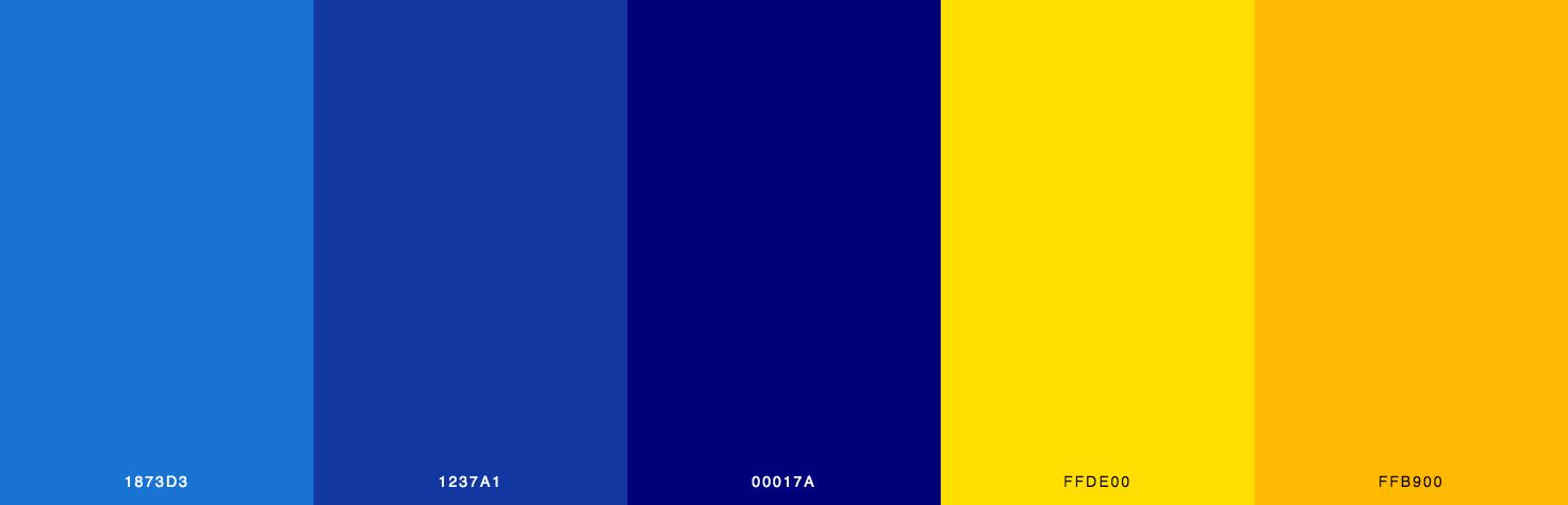 Blue, Yellow Color Scheme & Palette