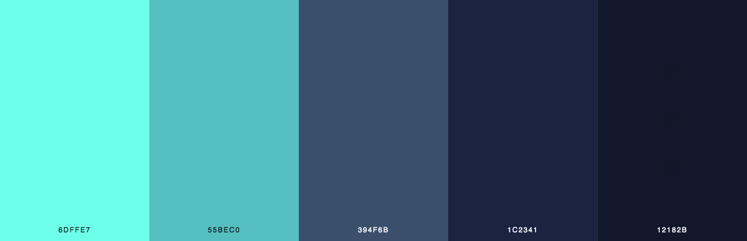 Green, Teal, Blue Color Scheme & Palette