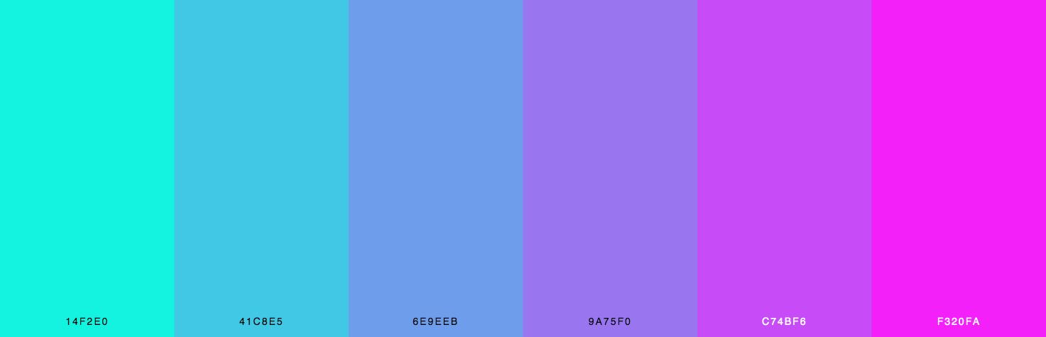 Green, Blue, Purple, Pink Color Scheme & Palette