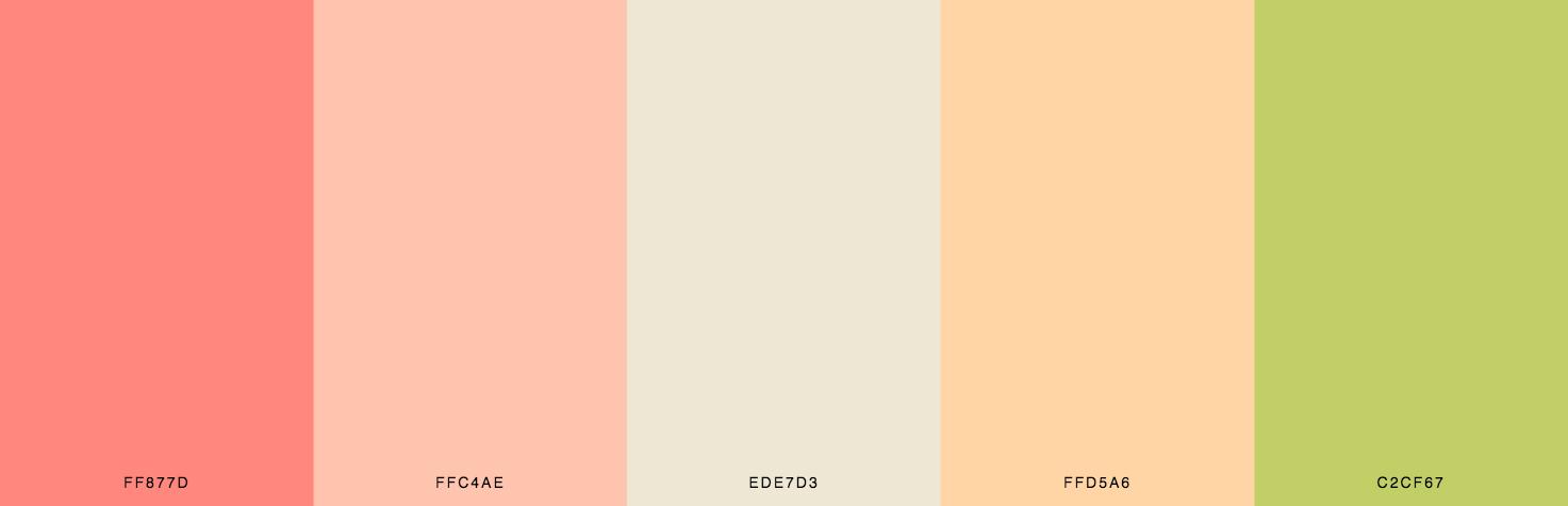 Orange, Yellow, Green Color Scheme & Palette