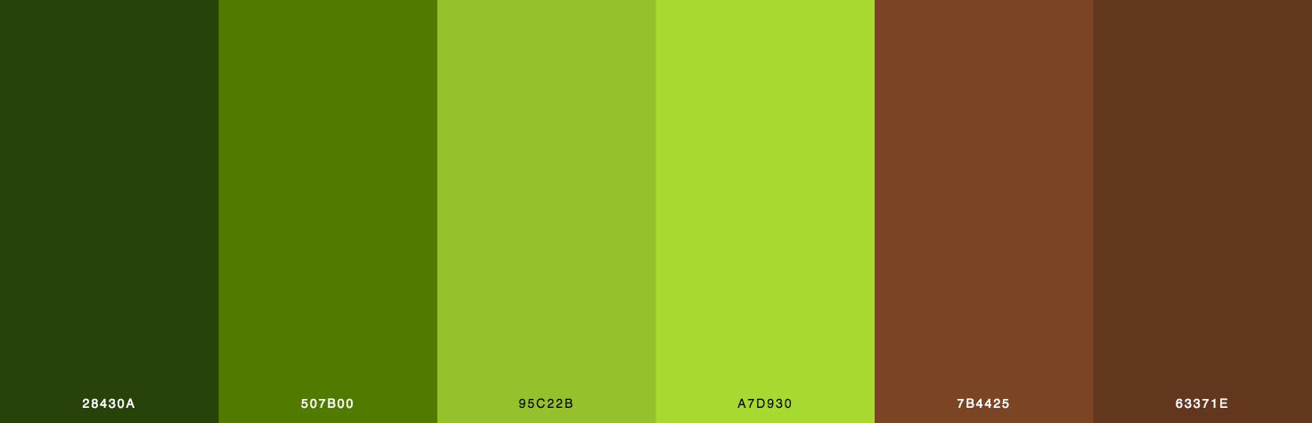 Green, Brown Color Scheme & Palette