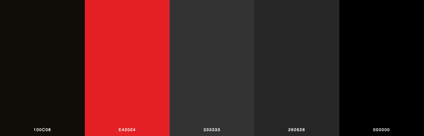 Black, Red, Grey Color Scheme & Palette