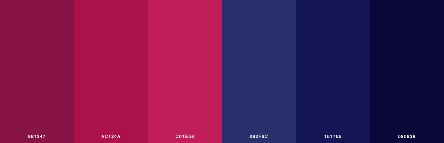 Red, Pink, Blue Color Scheme & Palette