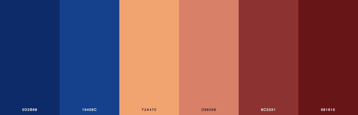 Blue, Orange, Brown Color Scheme & Palette