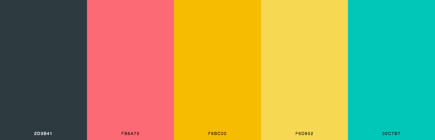 Red, Yellow, Green Color Scheme & Palette