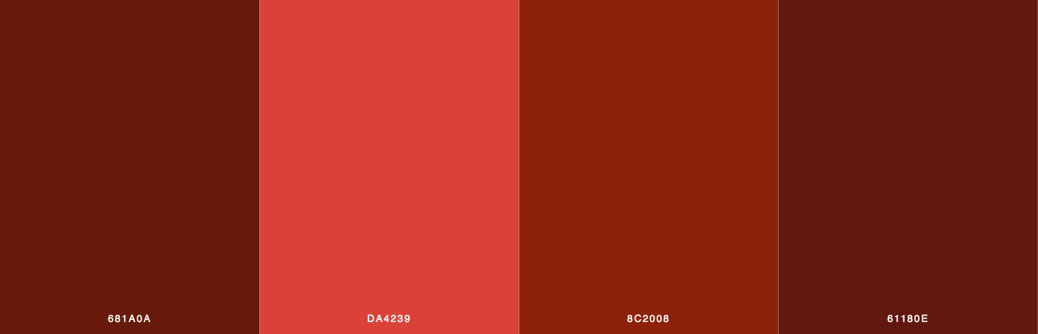 Red, Brown Color Scheme & Palette