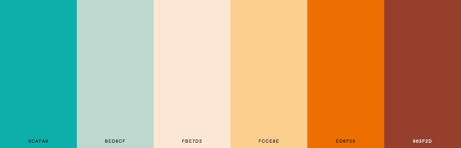 Green, Yellow, Orange Color Scheme & Palette