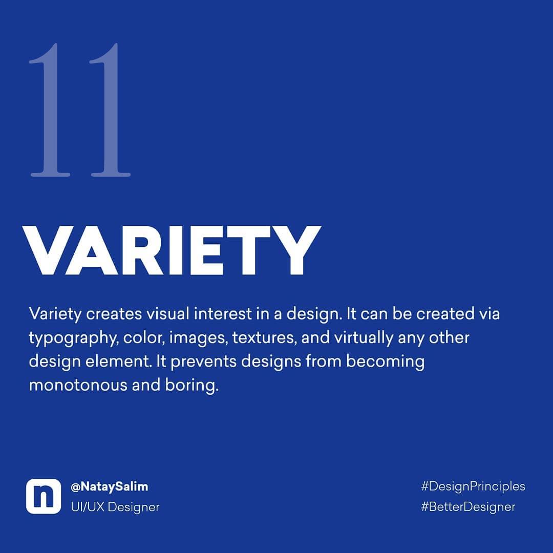 Design Principles - Variety