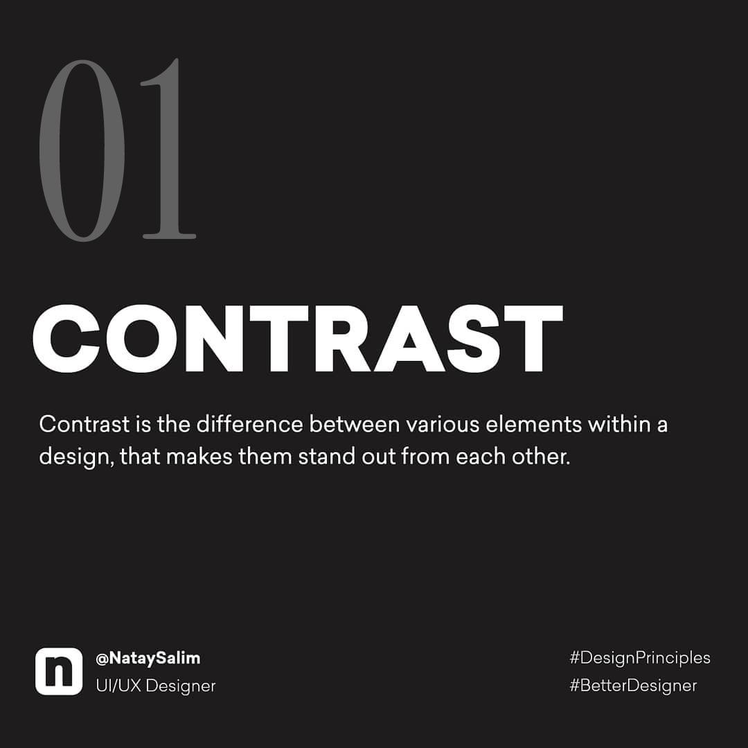 Design Principles - Contrast