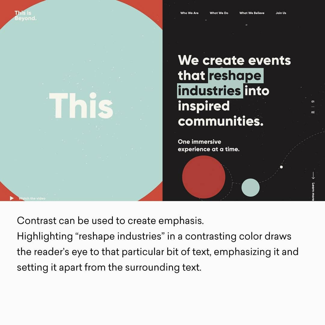 Design Principles - Contrast (Example)