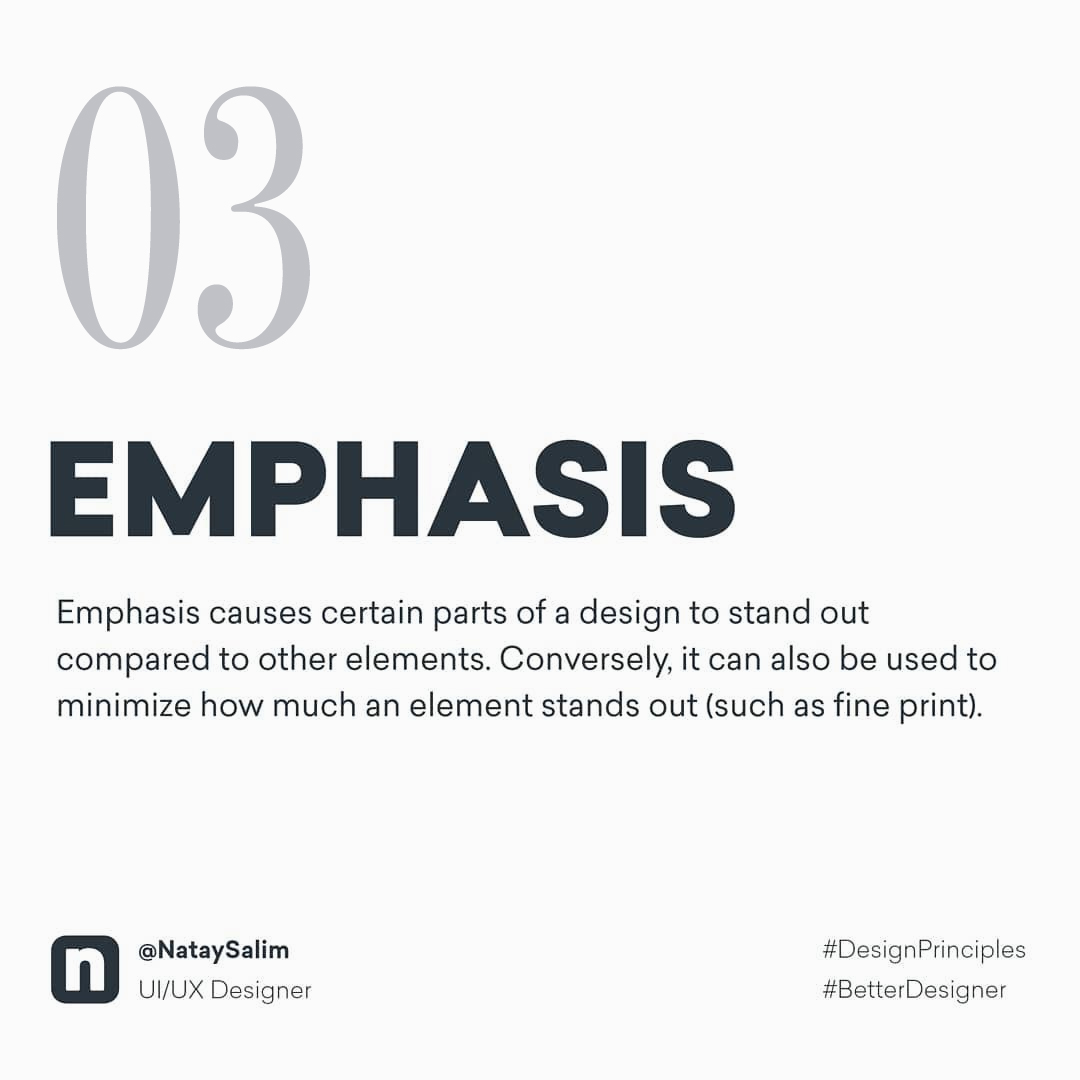Design Principles - Emphasis