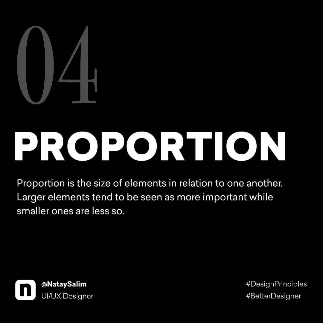 Design Principles - Proportion