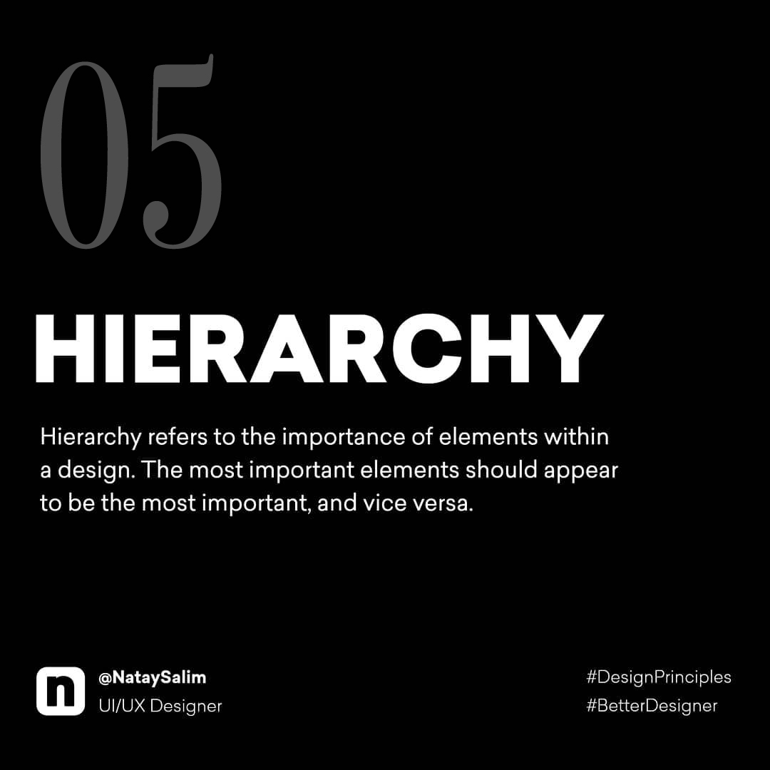 Design Principles - Hierarchy