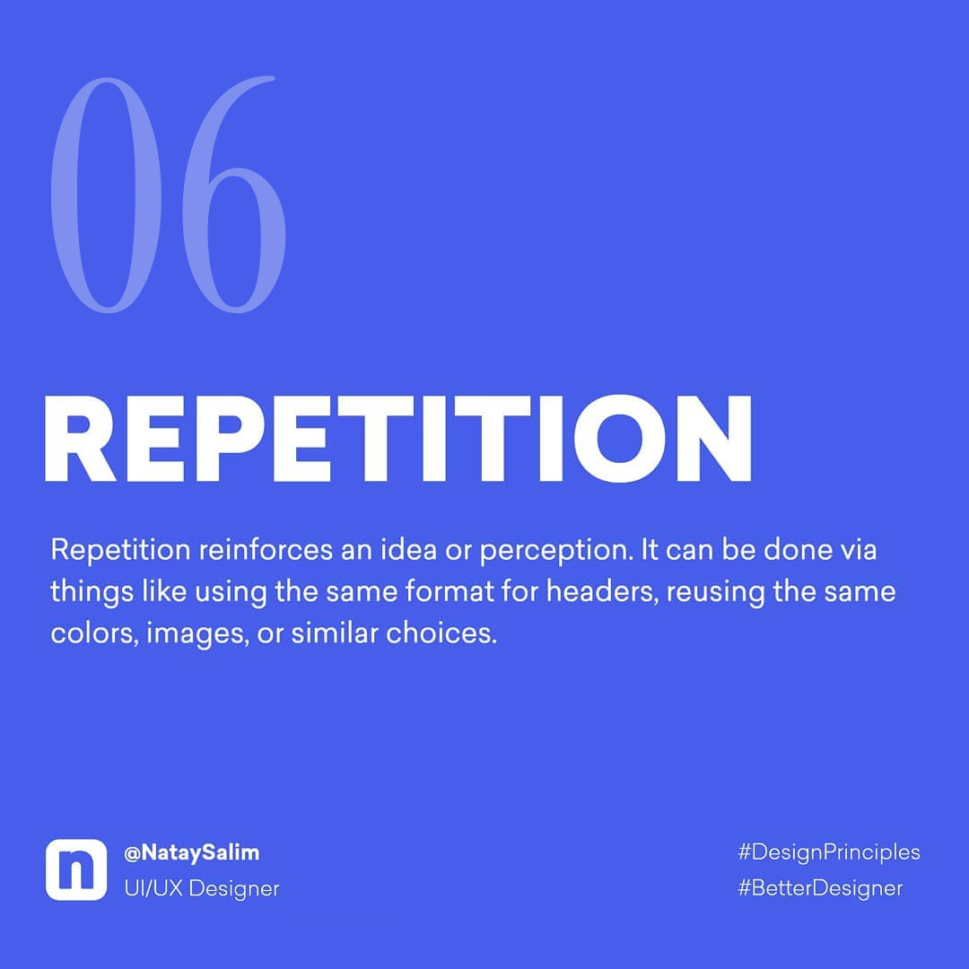 Design Principles - Repetition