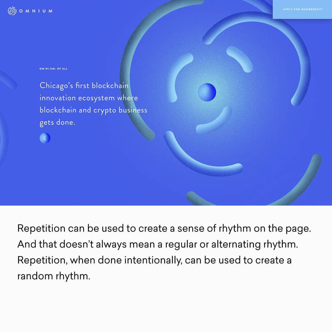 Design Principles - Repetition (Example)
