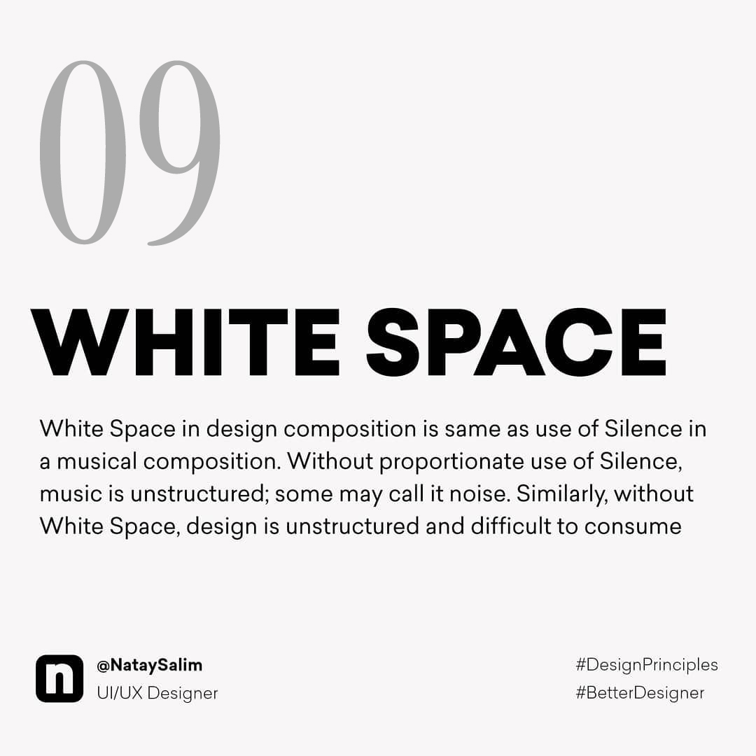 Design Principles - White Space