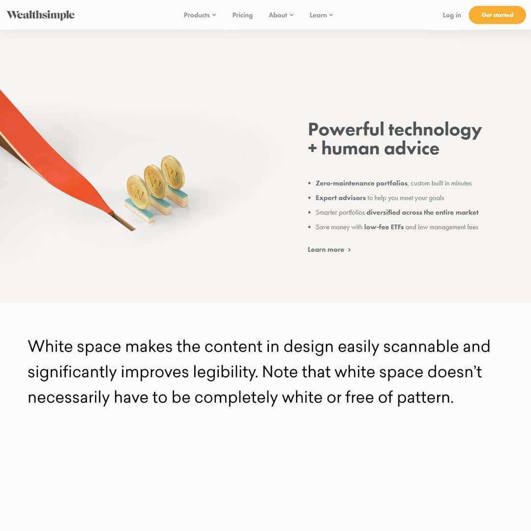 Design Principles - White Space (Example)