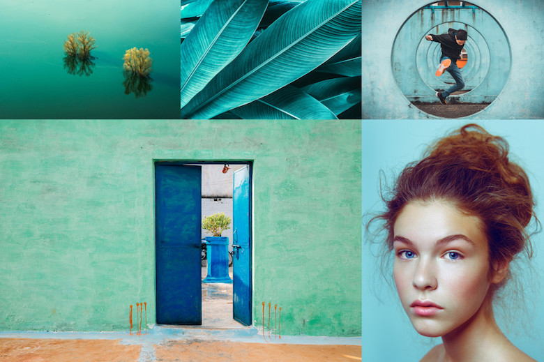 2020 Color Trends: The World's Most Popular Colors - Aqua Menthe Collage