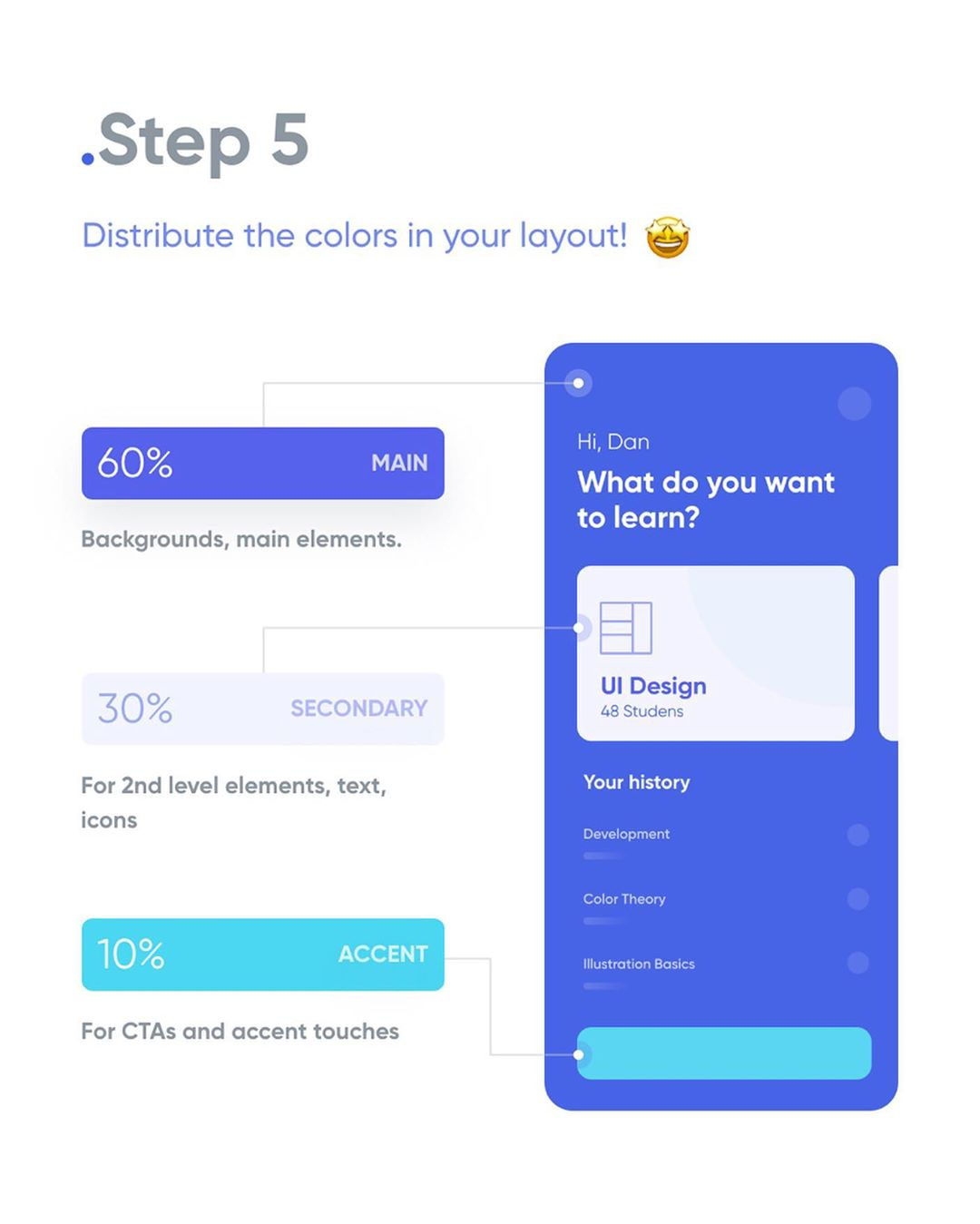 How To Apply Color To Your UI Design - Step 5