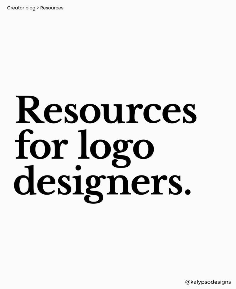 Resources for logo designers