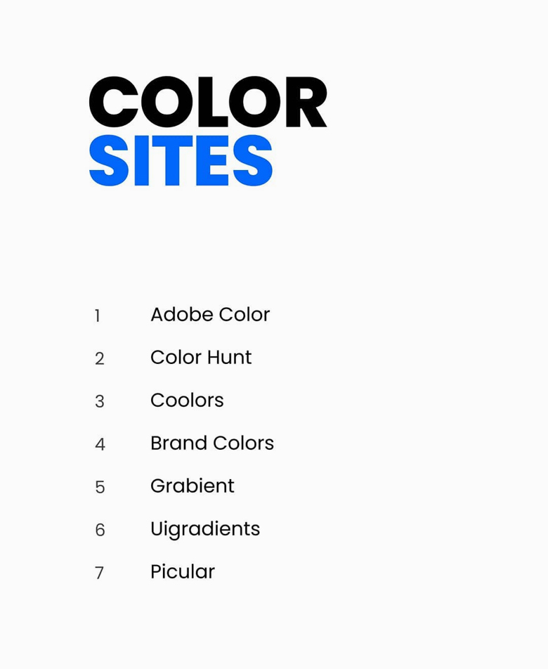 Color sites for logo designers