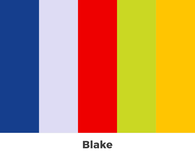 Create color palette from the letters of your name - Blake