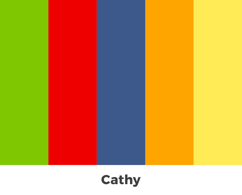 Create color palette from the letters of your name - Cathy