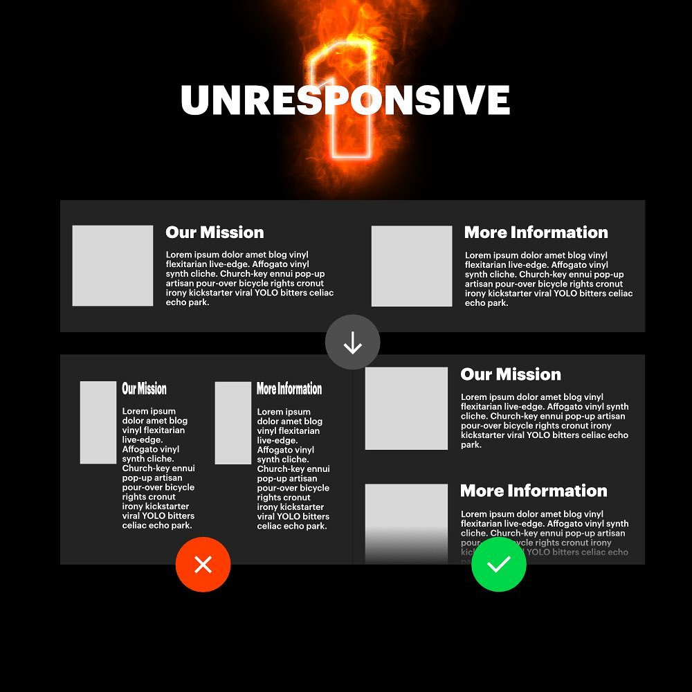 7 Deadly Graphic Design Sins - Unresponsive