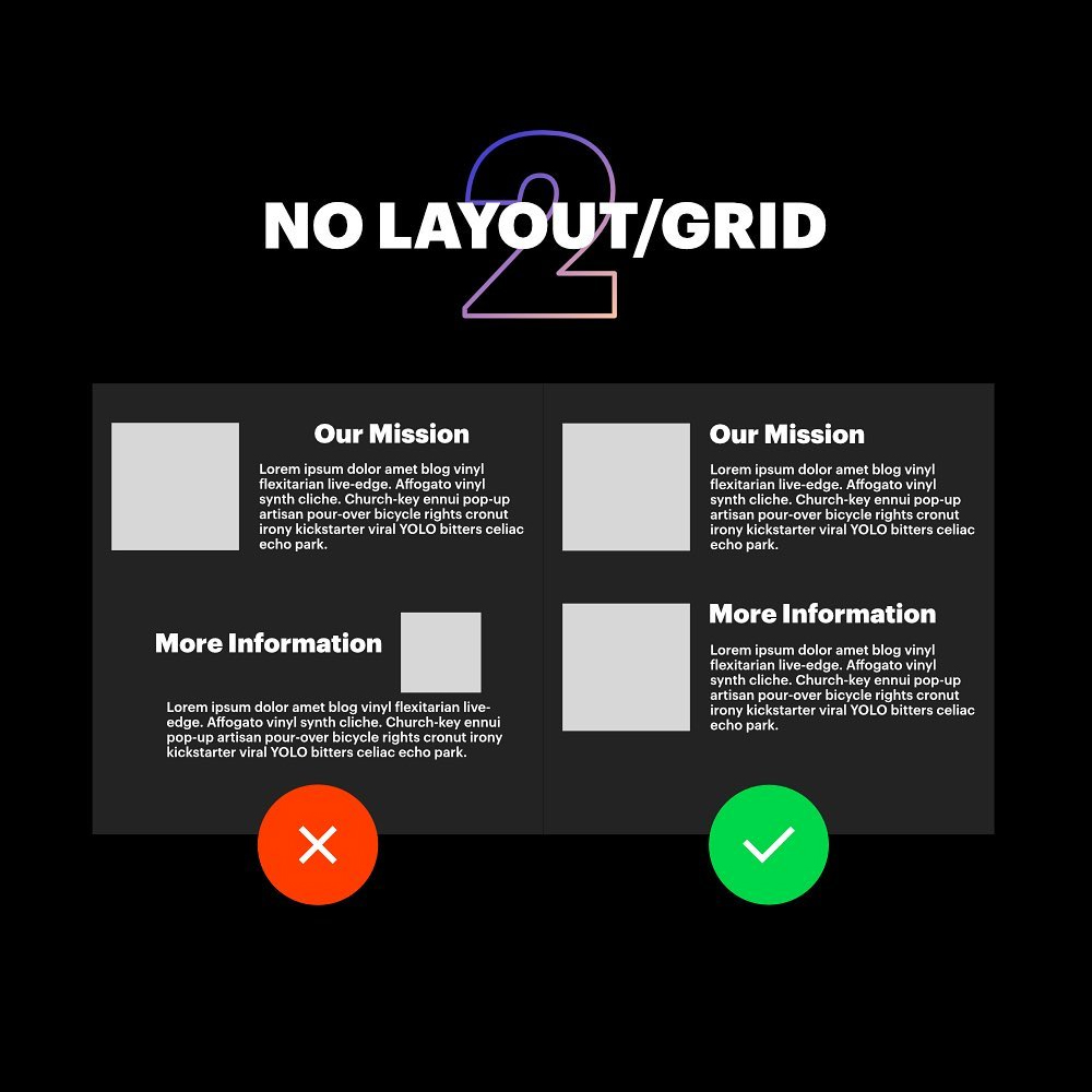 7 Deadly Graphic Design Sins - No Layout/Grid