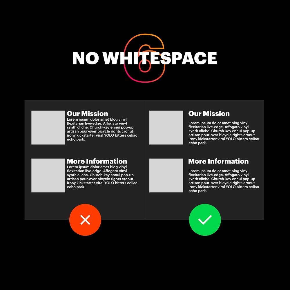 7 Deadly Graphic Design Sins - No White Space