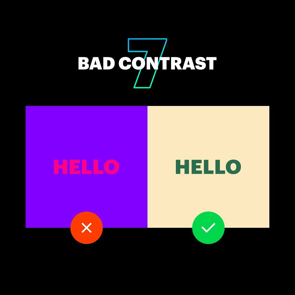 7 Deadly Graphic Design Sins - Bad Contrast