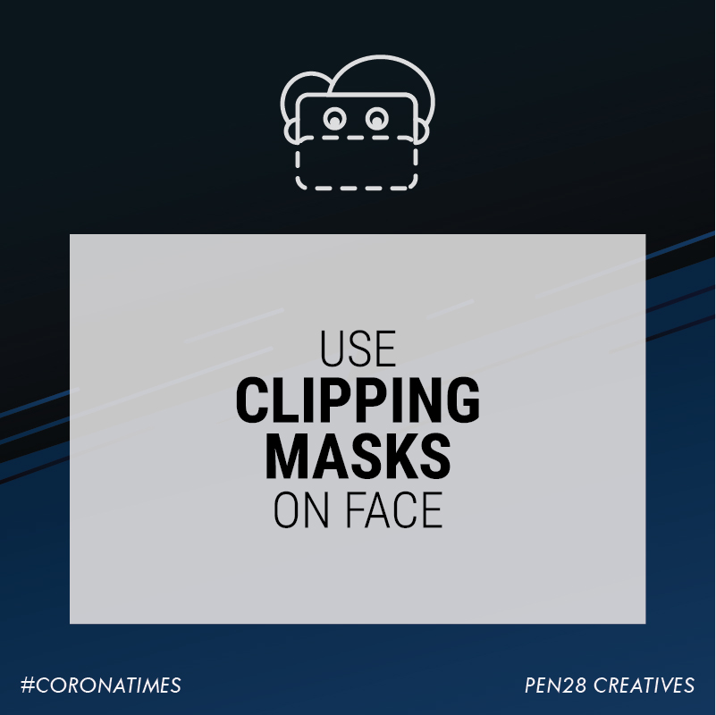 Use clipping masks on face