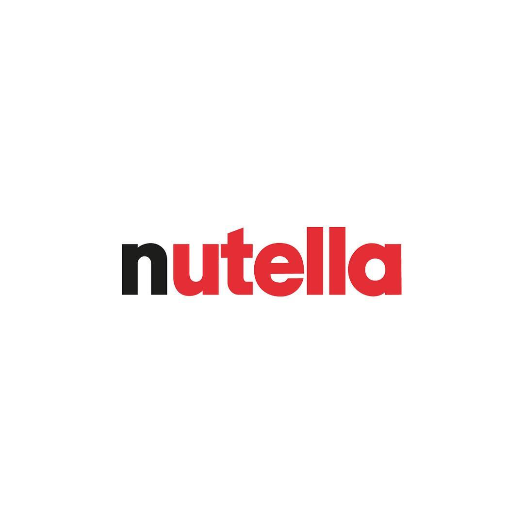 Fonts used in Famous Logos - Nutella