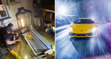 Car Photographer's Shoot Gets Cancelled Due To Covid Pandemic, So He Clicks Stunning Pics With A Toy Car At Home