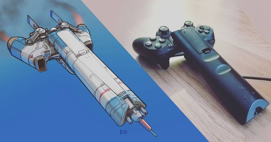 Everyday objects turned into spaceship illustrations (12)