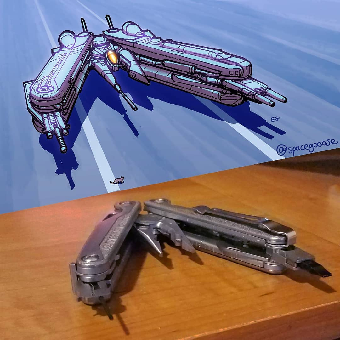 Everyday objects turned into spaceship illustrations (13)