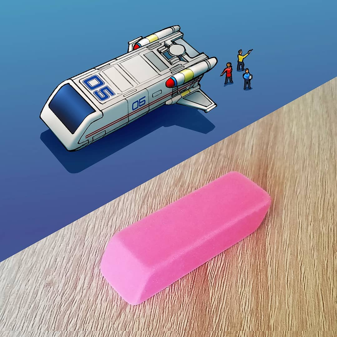Everyday objects turned into spaceship illustrations (16)