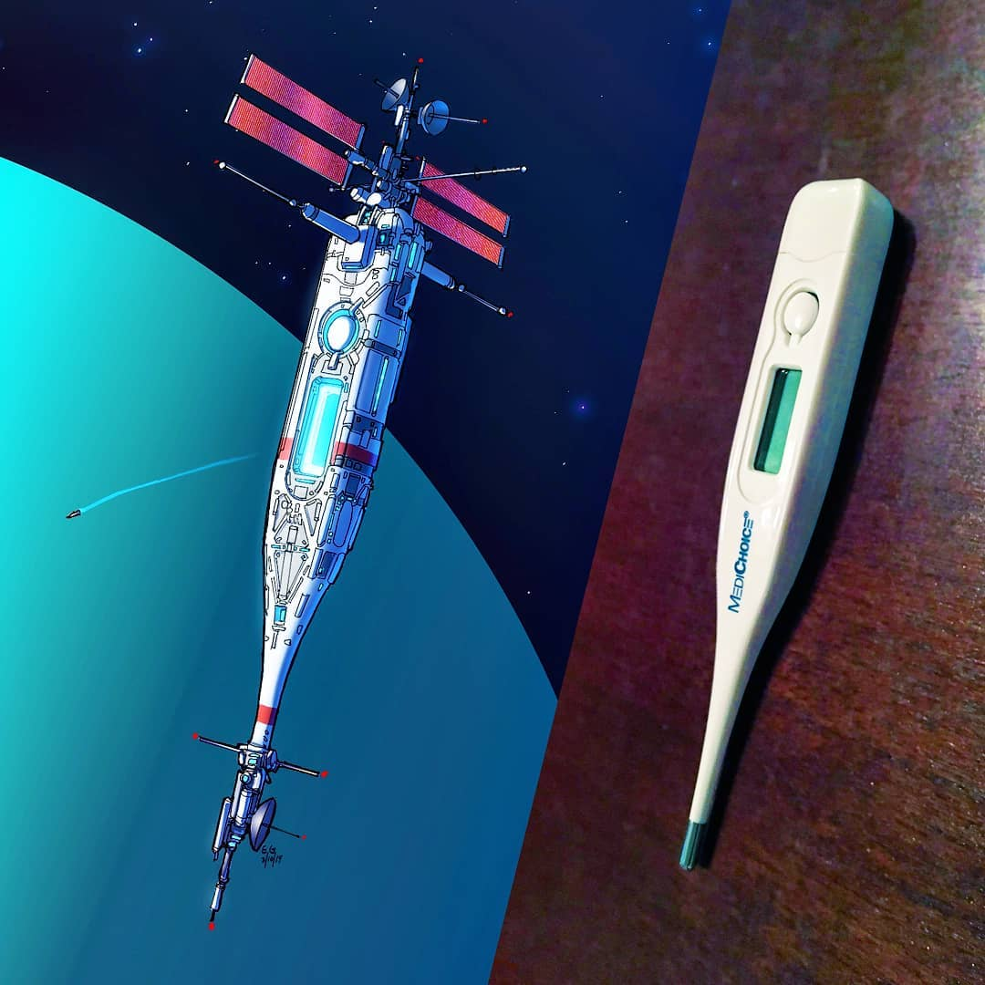 Everyday objects turned into spaceship illustrations (18)