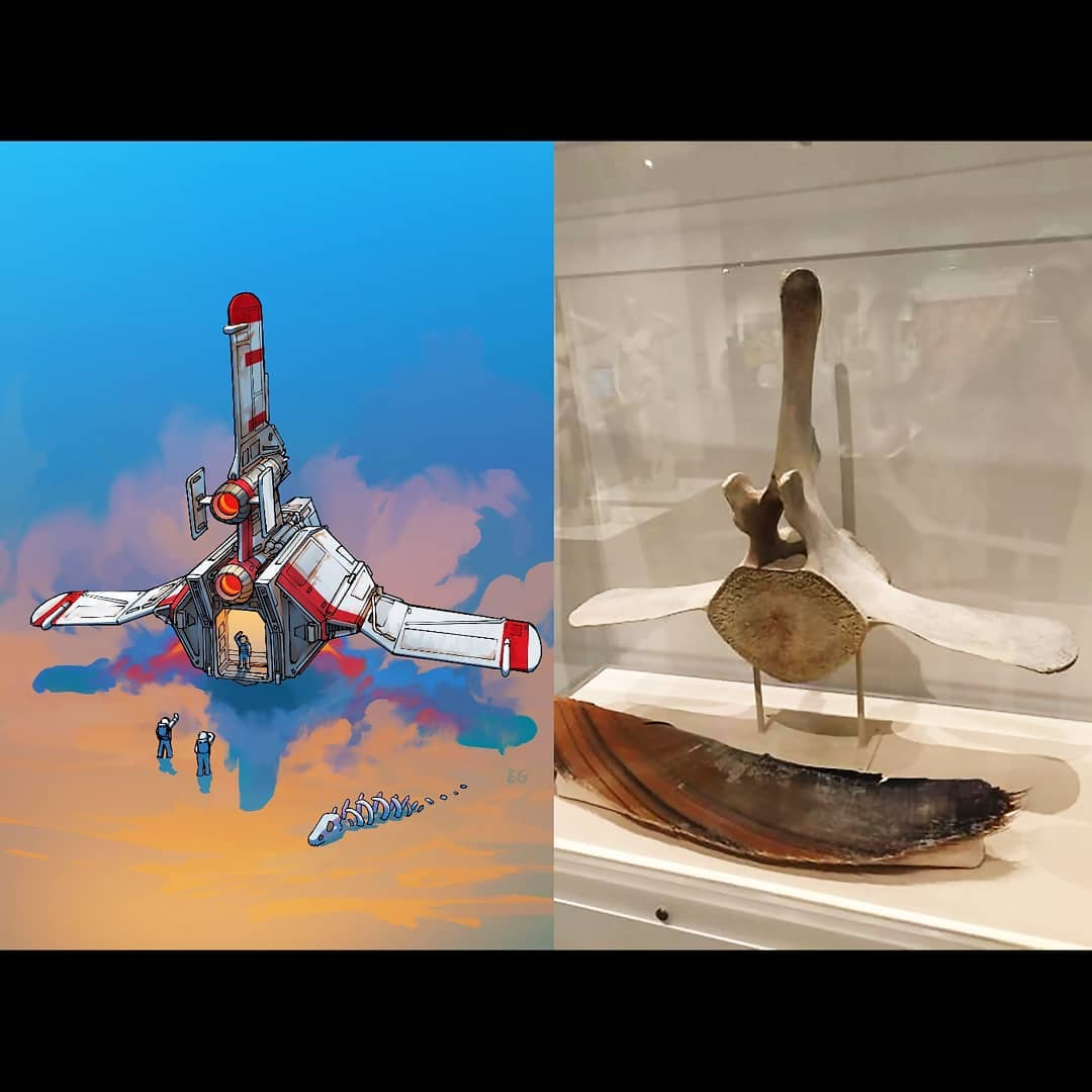 Everyday objects turned into spaceship illustrations (19)