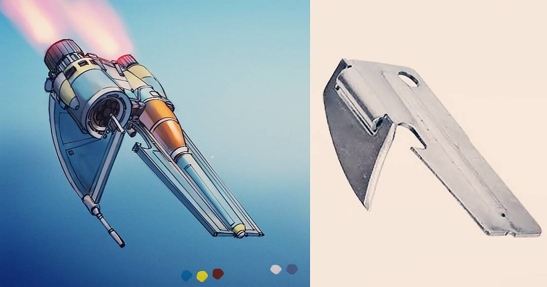 Everyday objects turned into spaceship illustrations (22)